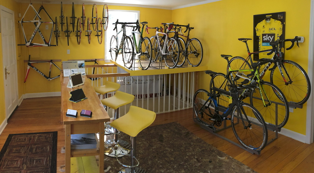 Yellow Jersey Cycle Main Room